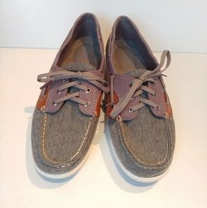 Sperry Topsider Blue-gray and brown boat shoe